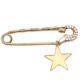 Modex Altın Kaplama Yıldız İğne Broş