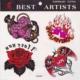 Highsons Sticker Dövme Geçici Dövme Tattoo (Kırmızı Gül)