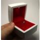 Osmanlı Gümüş Işıklı Pırlanta Altın Tektaş Yüzük Kutusu Kırmızı Beyaz