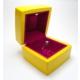 Osmanlı Gümüş Işıklı Pırlanta Altın Tektaş Yüzük Kutusu Sarı Kırmızı