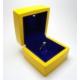 Osmanlı Gümüş Işıklı Pırlanta Altın Tektaş Yüzük Kutusu Sarı Lacivert