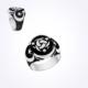 Mina Silver Teşkilat Mahsus Üç Hilal Simgeli Ayyıldız Sade Taşsız Gümüş Erkek Yüzük Ms11054 30