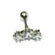 Cadının Dükkanı 316 L Cerrahi Çelik Taşlı Gümüş Rengi Yıldız Tragus-Helix-Kulak Piercing Aefrtuw73