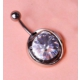 Cadının Dükkanı 316 L Cerrahi Çelik Tek Taş Göbek Piercing K1124