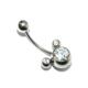 Cadının Dükkanı 316 L Cerrahi Çelik Mickey Fare Göbek Piercing K1152