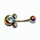 Cadının Dükkanı 316 L Cerrahi Çelik Taşlı Göbek Piercing K1192