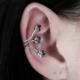 Hane14 Ivy Yapraklar Ear Cuff Küpe Antik Silver