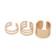 Modakedi Dore Renk Üçlü Ayarlanabilir Kadın Eklem Yüzük