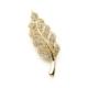 Modex Altın Sarısı Yaprak Figürlü Broş