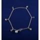 Akyüz Gümüş Yıldız Motifli Gümüş Halhal Hl014