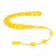 Nusret Takı Sarı Renk Sıkma Kehribar Tesbih