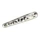 Nusret Takı 925 Ayar Gümüş Oltu Taşı Desenli Kravat İğnesi