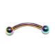 Cadının Dükkanı 316 L Cerrahi Çelik Neon Toplu Kaş Piercing (Top:3 Mm)