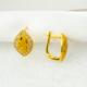 Bilezikci Tuğralı 14 Ayar Sarı Altın Taşlı Küpe