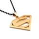 Solfera Dc Comıcs Sarı Superman Logo Çelik Erkek Kolye K801