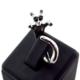 Solfera Kedi Figürü Siyah Taşlı Ayarlanabilir Bayan Yüzük Rg002