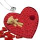 Chavin Takı Setli Kalp Kutulu Ayıcıklı Kırmızı Mini Güller Yap13