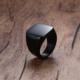 Chavin Siyah Kadın-Erkek Çelik Yüzük dc52