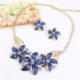 Forentina Çiçek Kolye Küpe Takı Seti Fr0511