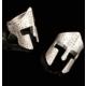 Modaroma Şovalye Başlığı Gümüş Kaplama Ayarlamalı Yüzük