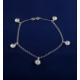 Akyüz Gümüş Güneş Motifli Gümüş Halhal Hl027