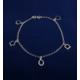 Akyüz Gümüş Geometrik Şekilli Gümüş Halhal Hl028