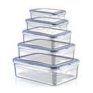 Hobby Life Plastik 5 Li Dikdortgen Sızdırmaz Saklama Kabı(0,4+,8+1,4+2,6+4,3Lt)