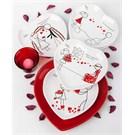 Keramika Takım Pasta Kalp 7 Parca Beyaz 001 Ask Kapıyı Calınca A