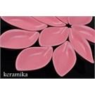 Keramika Cerezlık Sosluk Yaprak 12 Cm Pembe 550
