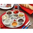 Keramika Set Hıtıt Kahvaltı 8 Parca Beyaz 004 Mıra A