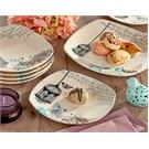 Keramika Takım Pasta Köşem 7 Parca Krem 030 Retro A