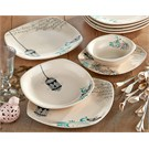 Keramika Takım Yemek Köşem 24 Parca Krem 030 Retro A
