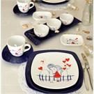 Keramika Set Kosem Kahvaltı 14 Parca 004-430 Keramira Kobalt A