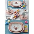 Keramika Set Köşem Kahvaltı 14 Parça Beyaz 004-Pembe Açık 551 Pink Cake A
