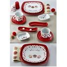 Keramika Set Köşem Kahvaltı 14 Parca Beyaz004-Kırmızı 506 Fruıt Cake A