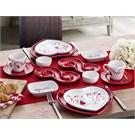 Keramika Set Kalp Kahvaltı 14 Parca Aşk A
