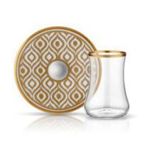 Koleksiyon Dervish İkat Gold 6lı Çay Seti
