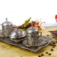 Acar 2Li Kutulu Osmanlı Kahve Seti Gümüşş(Kare)