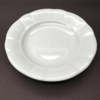 İkram Dünyası Porselen Papatya Oluklu Yemek Tabağı 18 cm 12 adet