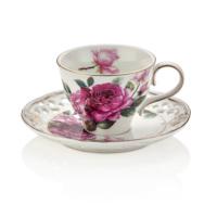 NEVA N1006 Dantel S Jasmine 12 Parça Kahve Fincan