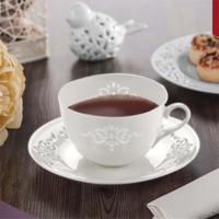 NEVA N1020 Dantel S Palace 6 Parça Beyaz Kahve Fincanı
