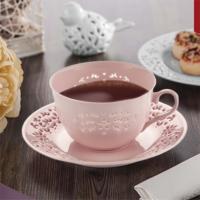 NEVA N1023 Dantel S Daisye 6 Parça Pembe Kahve Fincanı