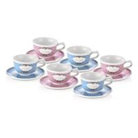 NEVA N630 2 Renk 1 Set 6Lı Kahve Fincan Seti
