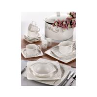 Taç Porselen Elegance 85 Parça Bone Yemek Takımı - 90 Prç Çkb Seti ve 5li Granit Tencere Seti Hediyeli