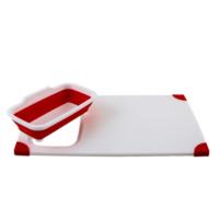 Gondol Körüklü Lavabo Üstü Süzgeçli Kesecek Kırmızı