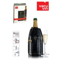 Vacu Vin Vacu Üzüm Desenli Siyah Şampanya Soğutucu