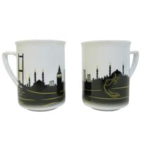 LunArt 2 Li Kupa Set İstanbul Desen