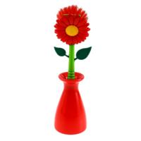 Gondol Saksılı Çiçekli Bulaşık Fırçası Oranj