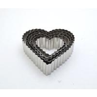 Tırtıklı Kalp Kurabiye Kalıbı Modeli 6 Li