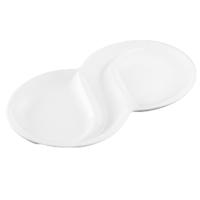 Wilmax 3 Bölmeli Oval Servis Tabağı 31,5x18,5 cm